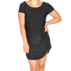 NO BOUNDARIES SHIRT DRESS IN BLACK